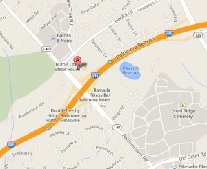 Map of 1777 Reisterstown Rd